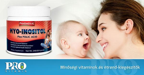 Pharmekal Myo-Inositol + Folsav B9-vitamin por