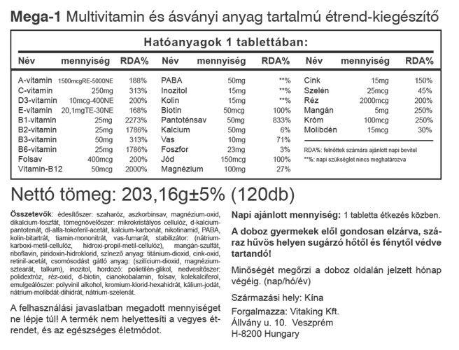 Vitaking Mega - Family multivitamin