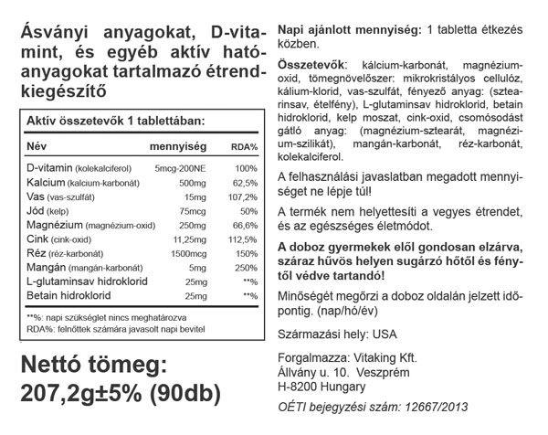 Vitaking Multi Mega Mineral tabletta