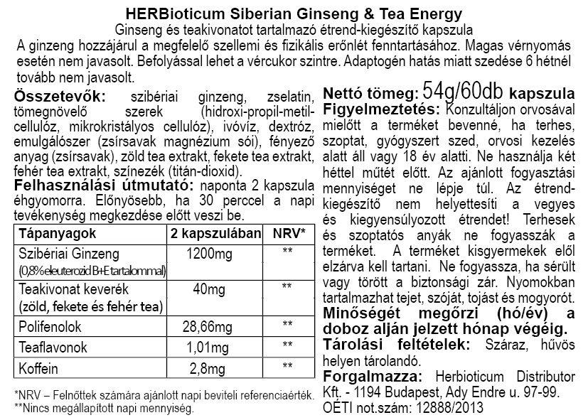 Herbioticum Szibériai ginzeng