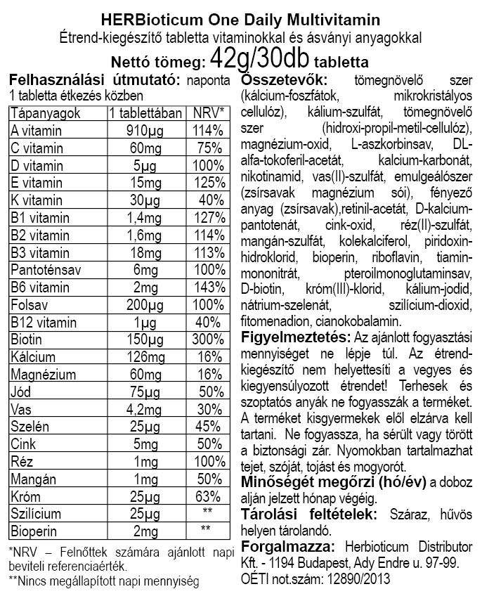 Herbioticum One Daily Multivitamin