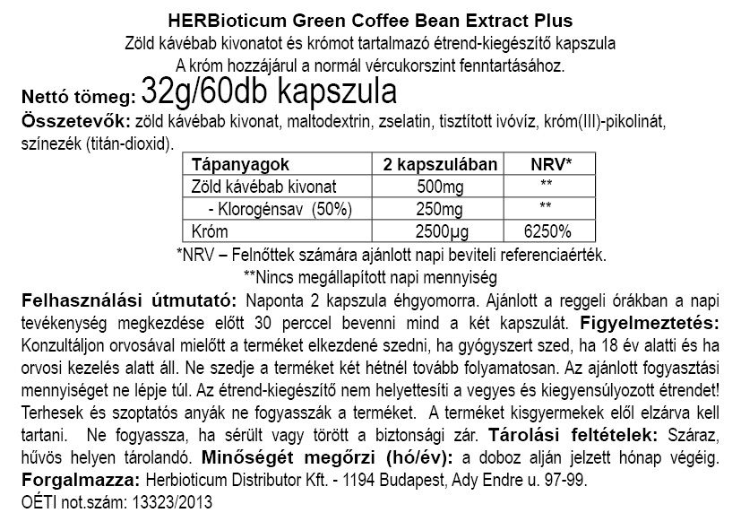 Herbioticum Green Coffee