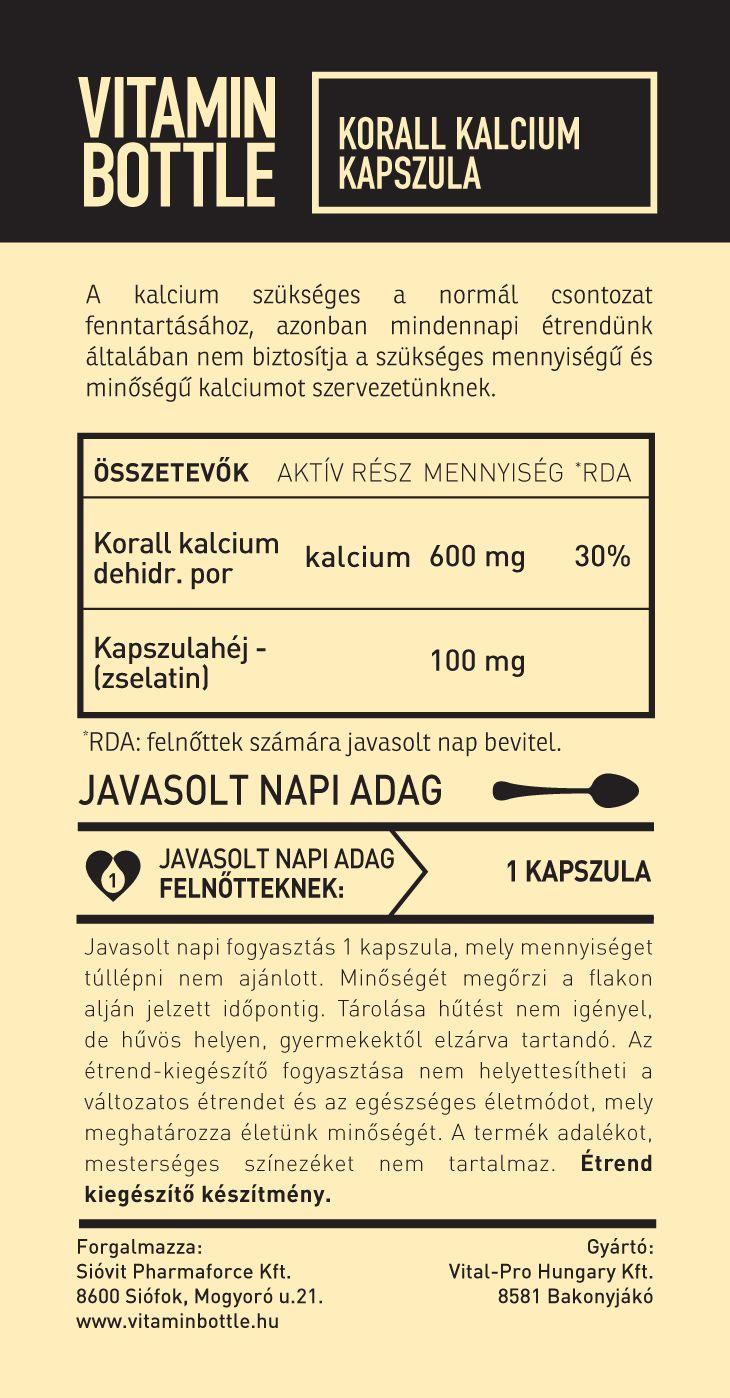 Vitamin Bottle koral calcium