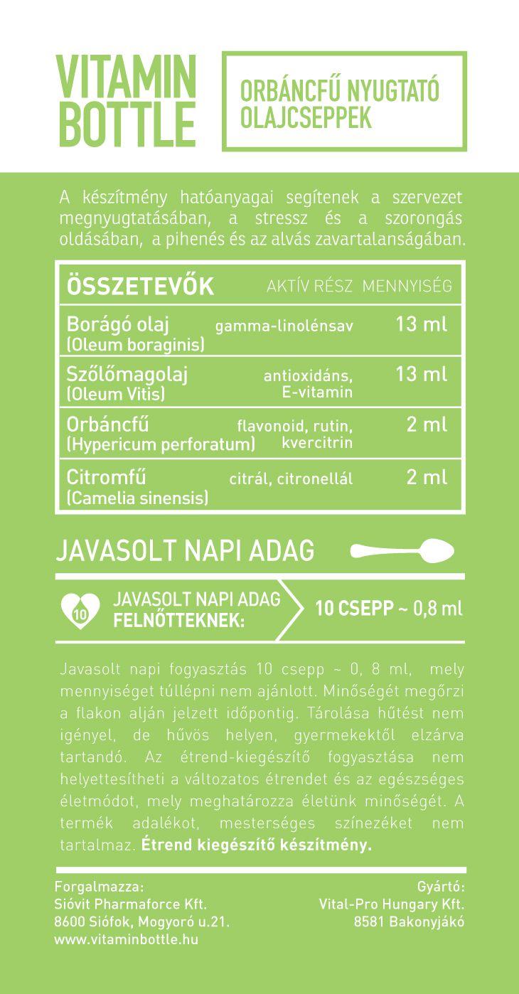 Vitamin Bottle orbáncfű csepp