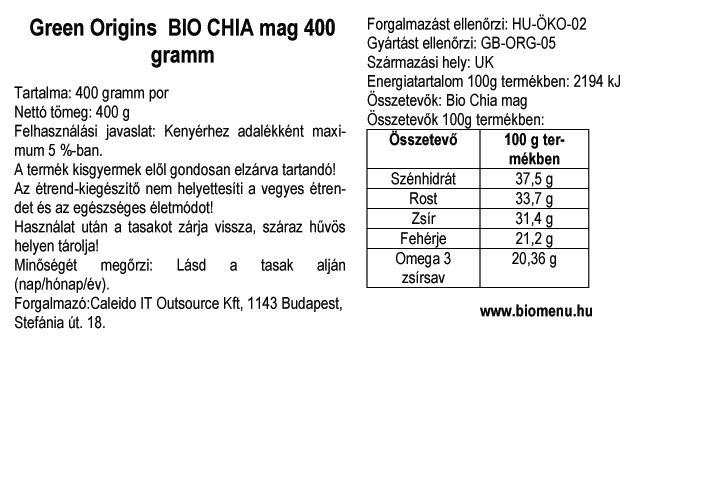 Green origin bio chia