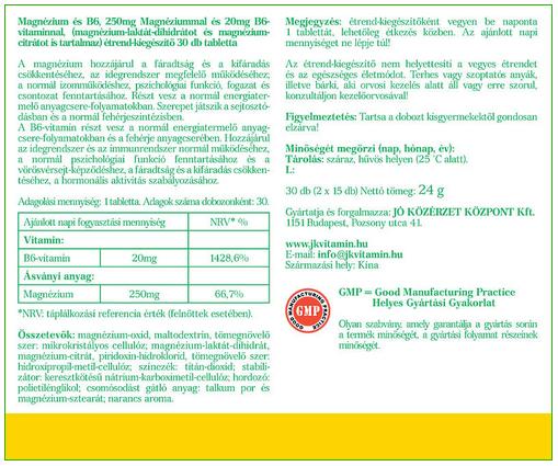 Jó közérzet Magne-B6-vitamin