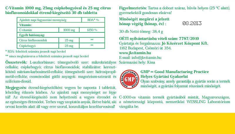 Jó közérzet C-vitamin