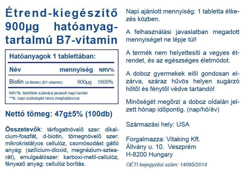 Vitaking Biotin