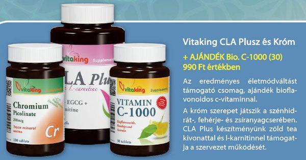 Vitaking CLA Plus + Kr�m + aj�nd�k C-vitamin
