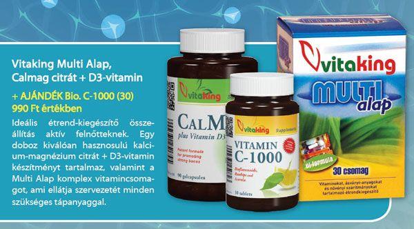 Vitaking Multi alap + CalMagD3 + ajándék C-vitamin