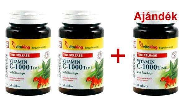 Vitaking TR C-vitamin 1000 mg 2+1 akci�