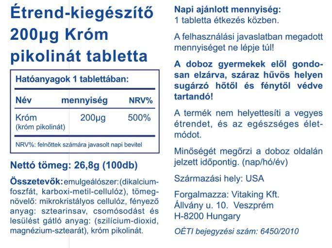 Vitaking Króm pikolinát