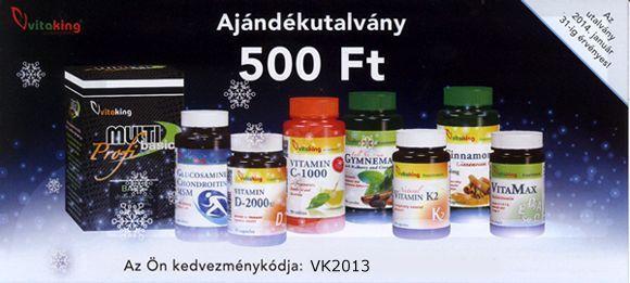 500 Ft azonnali kedvezmény Vitaking termékekre!