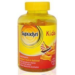 Supradyn Kids multivitamin + omega-3 + kolin gumivitamin
