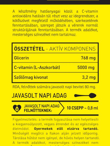 Vitamin bottle c-vitamin-szőlőmag csepp