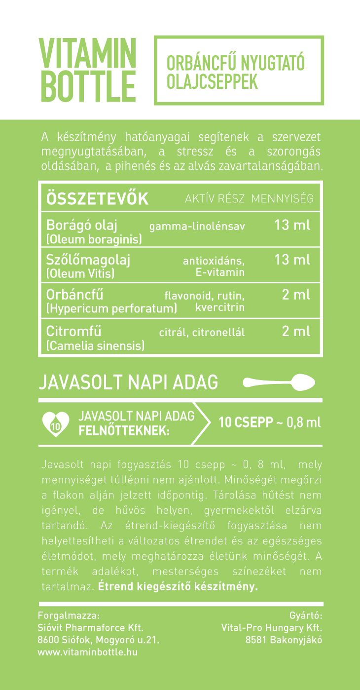 Vitamin Bottle orbáncfű csepp
