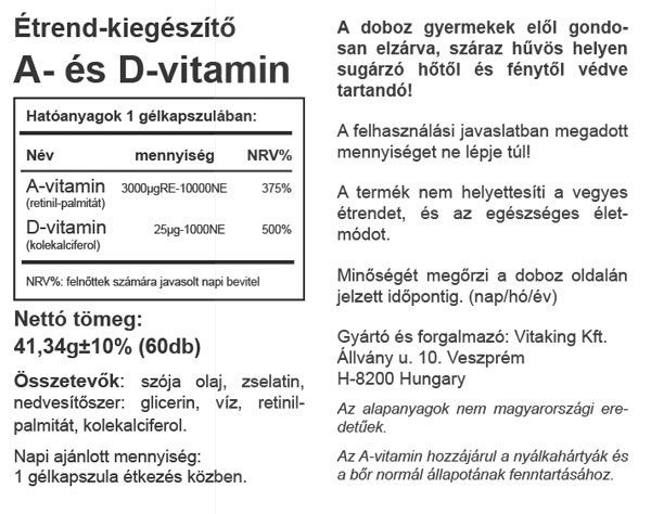 Vitaking A&D vitamin