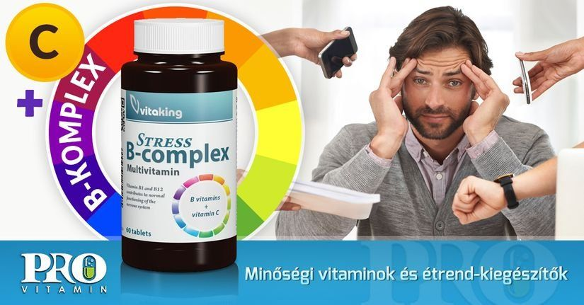 Vitaking Stress B-Complex vitamin tabletta