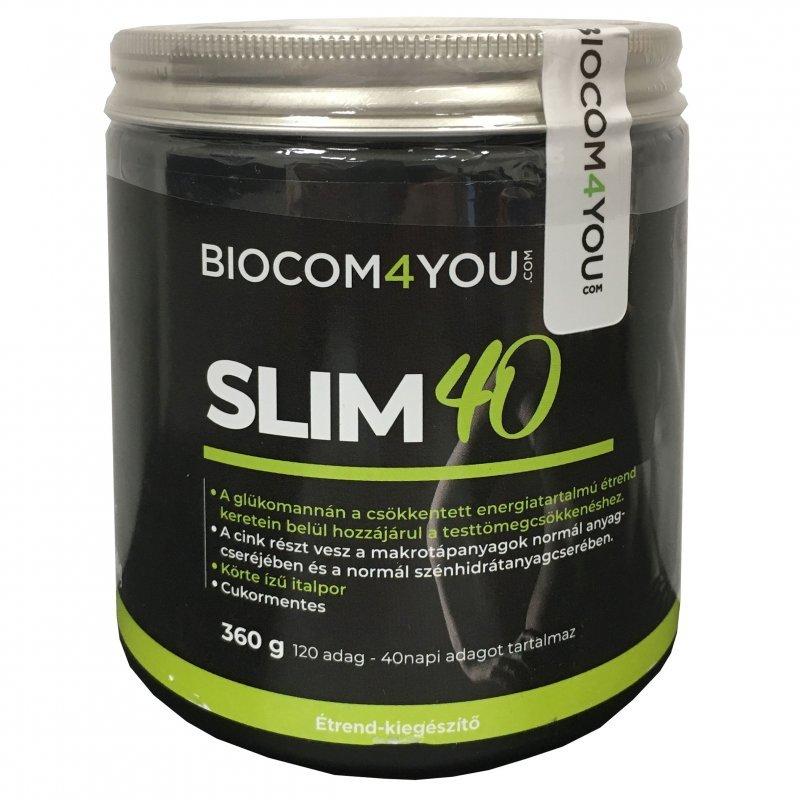 Biocom SLIM 40 meggy és körte ízű italpor | Kedvezményes ÁR