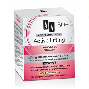AA Age technology Active Lifting 50+ éjszakai krém