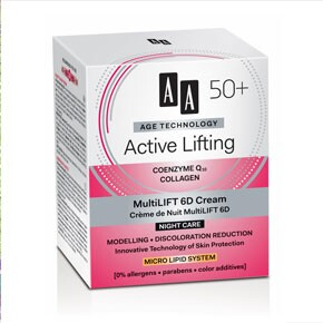 AA Age technology Active Lifting 50+ Multilift 6D éjszakai krém
