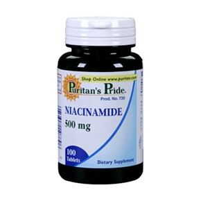 Puritan's Pride Niacinamid B3-vitamin tabletta