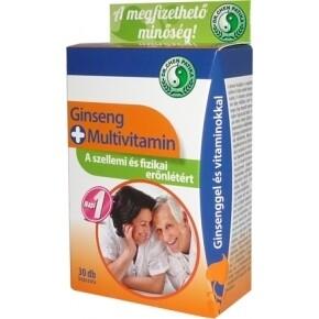 Ginseng + multivitamin kapszula - 30db
