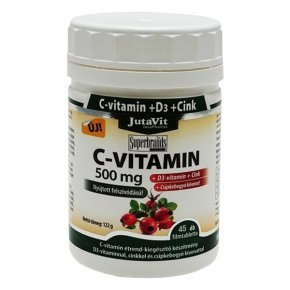 Jutavit C-vitamin 500mg + D3-vitamin tabletta