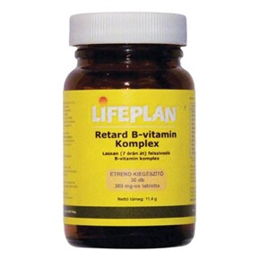 Lifeplan Retard B-vitamin komplex tabletta