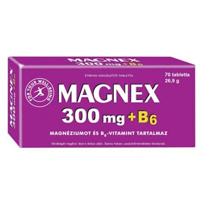 Magnex 300mg + B6 vitamin tabletta