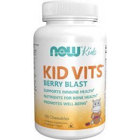 Now Kid Vits multivitamin málnás