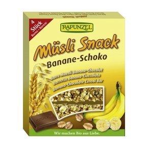 Bio banán-csoki müzliszelet - 4x26g