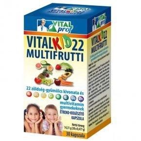 Vitalkid 22 Multifrutti kapszula - 60db