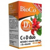 BioCo C+D Duo Retard C-vitamin 1000mg + D-vitamin 2000NE tabletta