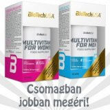 BioTech USA Multivitamin for Men + Multivitamin for Women tabletta